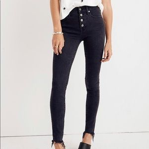 Madewell High Rise Button Skinny - Tall